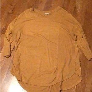 Maurice's Size 2 (Plus size) mustard shirt